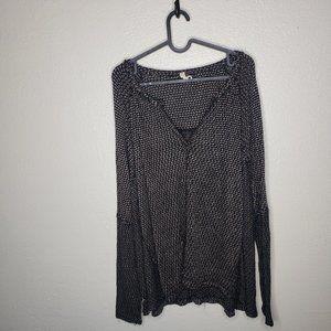 We The Free Oversized Black Knit Sweater